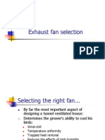 Exhaust Fan Selection