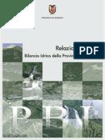Piano Di Bilancio Idrico Della Provincia Di Sondrio