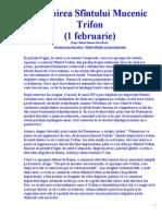VIETILE SFINTILOR - FEBRUARIE