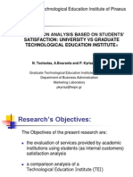 COMPARISON ANALYSIS BASED ON STUDENTS' SATISFACTION