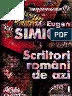 Simion Eugen - Scriitori Romani de Azi (Tabel Cron)