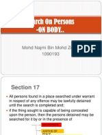 Search on Persons MALAYSIAN LAW