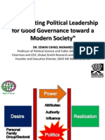 Ameliorating Political Leadership for Good Governance Toward