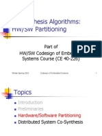 CoSynthesis Algorithms Partitioning