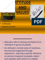 Attitudes and Values