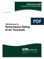 101959611 AHRI 880 Performance Rating of Air Terminals