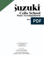 Suzuki - Cello School Acompanhamento (Piano 1)