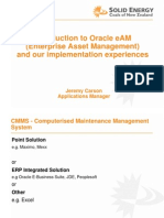 Jeremy Carson NZ Oracle User Group Presentation - An Overview of Enterprise Asset Management