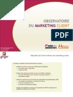 Etude Observatoire Marketing Client 2014