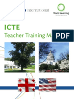 ICTE I Program Teacher Training Manual 2013-14