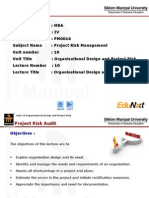 Organisational Design and Project Risk