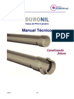 Tubos de PVC-U, Manual