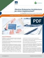 Effective Enterprise Architecture Program France