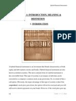 hybrid financial instrument