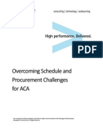 Accenture Overcoming Schedule and Procurement Challenges for ACA
