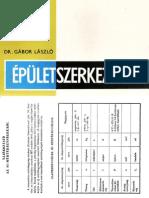Épületszerkezettan II. - DR. Gábor László