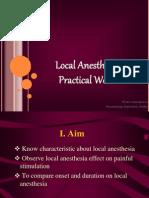 Praktikum Anestesi Lokal Diah