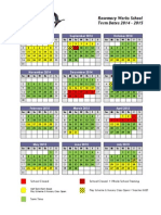 Term Dates Calendar 2014 - 2015