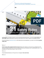 Electrical Engineering Portal.com 21 Golden Safety Rules