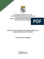 RELATÓRIO - ENSAIO DE MASSA ESPECÍFICA DE CIMENTO PORTLAND