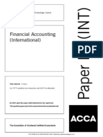 ACCA F3 Financial Accounting INT Solved Past Papers 0107 Copy