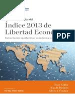 Heritage Foundation Puntos Destacados Del Indice 2013 de Libertad Economica