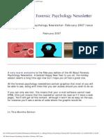 Forensic Psychology Newsletter Feb2007
