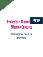 Evaluacion y Dispersion de Efluentes Gaseosos