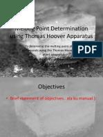Melting Point Determination Using Thomas Hoover Apparatus (Bonjing