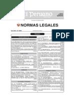 Normas Legales Peruano 31.12.2009