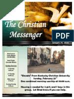 January 26 Newsletter
