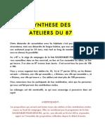 Restitution Ateliers