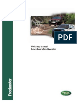 Workshop Manual Freelander - Includes JF506E | Throttle