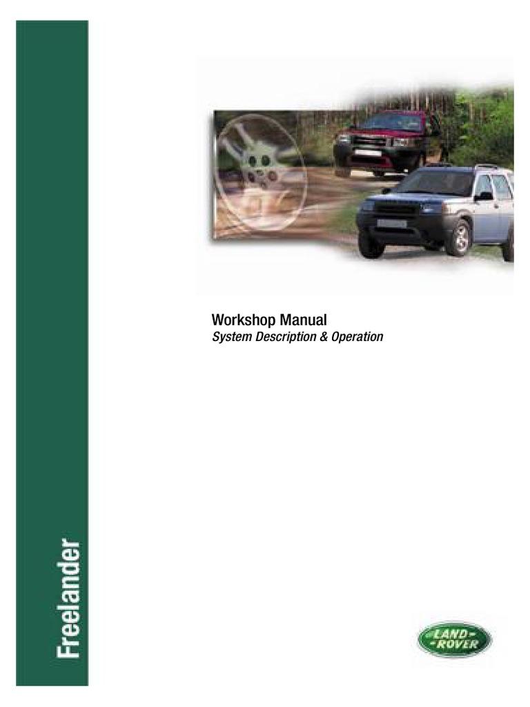 land rover defender my2007 workshop manual