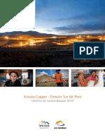 Informe de sostenibilidad 2010 - División Sur del Perú