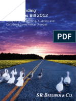 Understanding Companies Bill 2012 –  Analysis of Accounting, Auditing and  Corporate Governance changes