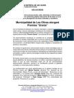 NOTA DE PRENSA_PREMIACION DE GANADORES DE PREMIOS URANIA A LA DIFUSIÓN TECNOLÓGICA