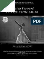 Bates Memorial 2013 Annual Report