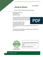 Certificado Afiliacion Duplex
