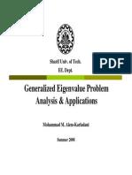 Generalized Eigenvalue