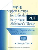 Developing Support Groups for Individuals with Early-Stage Alzheimer's Disease