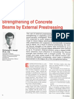 Strengthening of Concrete Beams by External Prestressing