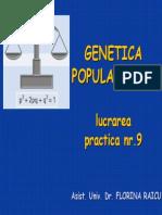 Genetica Populatiilor Hardy-Weinberg