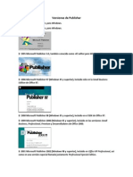 Versiones de Publisher