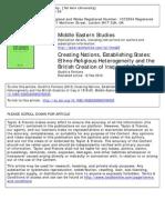 Creating Nations, Establishing States- Ethno-Religious Heterogeneity and the British Creation of Iraq in 1919–23