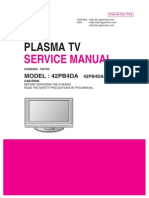 TV LG Plasma 42PB4DA Manual de Servicio