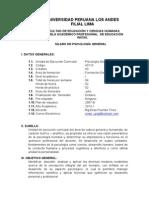 Silabo Psicologia General Ed. Inicial 2013-1