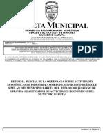 Reforma de La Ord de Actividades Econmicas de Industria Comercio o de Ndole Similar Del Municipio Baruta