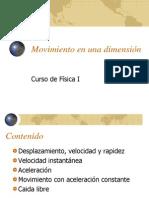 03 - CURSO DE MOVIMIENTO EN UNA DIMENSIÓN