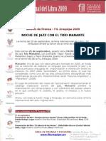 Grupo de Jazz Manante en La Fil Aqp 09